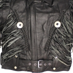 Mens Black Bon Jovi Leather Jacket by Biker Gear Depot