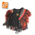 Women's Motorcycle/Biker and Black,Double-Fringed, Boned, & Beaded VEST