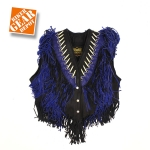 LADIES BEADED FRINGED WOMEN VEST BY Biker Gear Depot