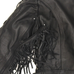 BLACK LEATHER JACKET by BGD
