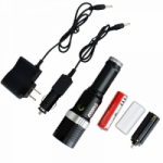 High Powered Black Tactical 200 Lumens Portable Safety Outdoor LED Flashlight