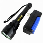 High Powered Digital LED 1600 Lumens Strong Flashlight Indoor Outdoor