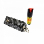 1/2 Oz Pepper Spray W/ Black Case Key Chain
