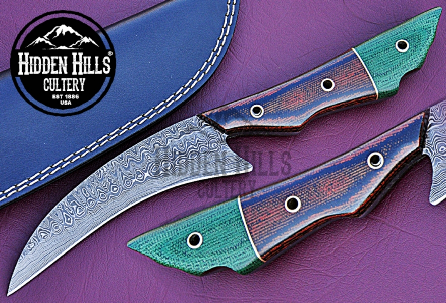 Bebi Damascus Steel Blade Hunting knife By Hidden Hills Cutlery