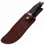 Abey Damascus Steel Hunting Bowie Knife By Hidden Hills Cutlery