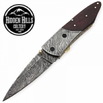Abeque Hand Made Damascus Steel Blade Folding Knife by HHC
