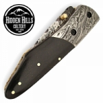 Abooksigun Damascus Steel Blade Bolster Pocket Knife by HHC