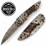 Abukcheech Damascus Steel Blade Handle Pocket Knife by HHC