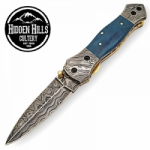 Achak Damascus Steel Blade Folding Knife by HHC
