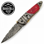 Adoeette Damascus Steel Blade Double Bolsters Pocket Knife by HHC