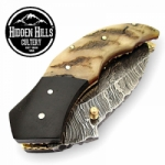 Adoette Damascus Blad Pocket Knife by HHC