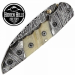Adoette Hand Crafted Damascus Blade Folding Knife by HHC
