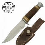 10 Inch Hunting Knife with Wooden Handle By CHK Cutlery