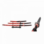"RED 3 PIECE SAMURAI SWORD SET 40"" OVERALL"
