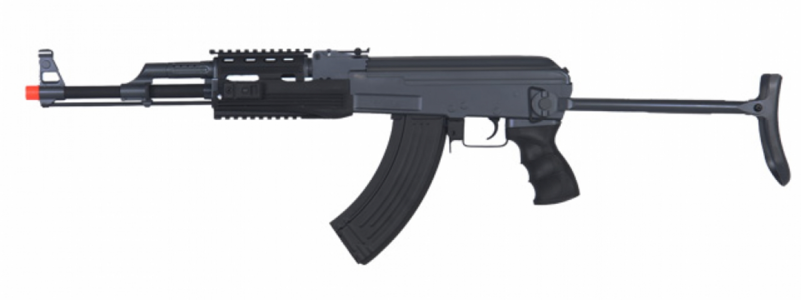 Cyma IU-AK47S Tactical AK47 RIS Auto Electric Gun Metal Gear, ABS Body, Metal Under Folding Stock