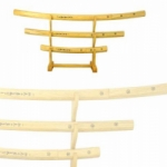 3-PC WOODEN SWORD SET