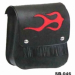 RED FLAME FRINGED CLASSIC SADDLE BAG