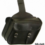 BLACK BRAIDED MOTORCYCLE SADDLEBAG