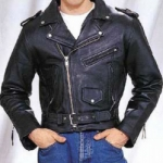 Classic Plated Buffalo Biker Jacket by BGD