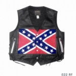 Confederate Flag Leather Vest