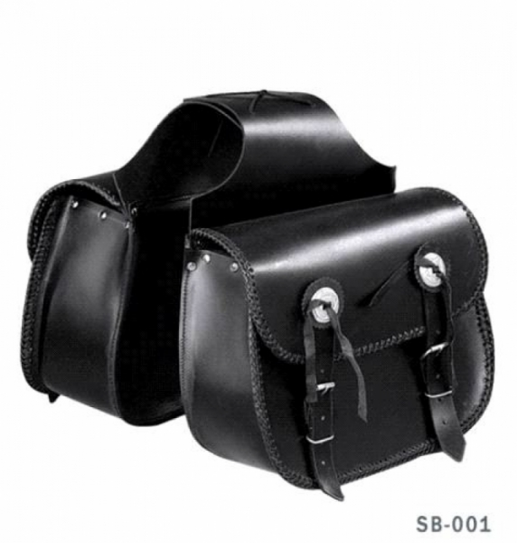 CLASSIC BRAIDED LEATHER ROUND SADDLEBAG