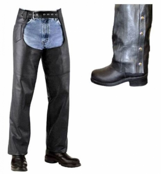 CLASSIC MEN'S LEATHER CHAPS by BGD