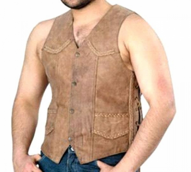 Mens Brown Vest