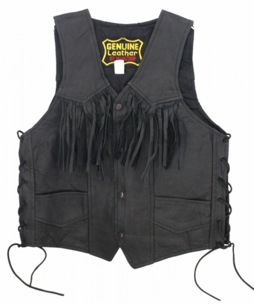 MEN SIDE LACE FRINGED VEST by BGD