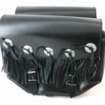 LARGE CLASSIC TWO STRAP LEATHER SADDLEBAG